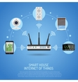 Smart House and internet of things vector image vector image