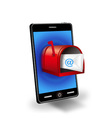 smart phone with mail box vector image vector image