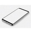 smartphone mockup transparent screen vector image vector image