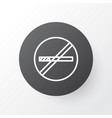 smoking prohibited icon symbol premium quality vector image vector image