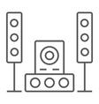 sound system thin line icon audio and stereo vector image vector image