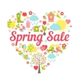 Spring sale heart vector image