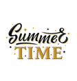 summer time black and gold hand drawn lettering vector image vector image