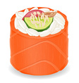 sushi rolls 06 vector image vector image