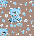 Teddy bear pattern vector image vector image