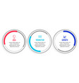 three steps circular infographic template modern vector image vector image