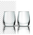 transparent glass tableware template vector image vector image