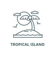 tropical beach island line icon linear vector image