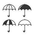 umbrella simple icons set on white background vector image vector image