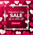 valentines day background with paper origami vector image vector image