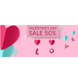 valentines day sale 50 vector image