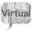 Virtual Freedom text background wordcloud concept vector image vector image
