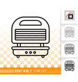waffle iron simple black line icon vector image vector image