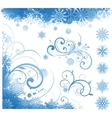 winter items elements vector image vector image