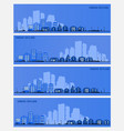 with a city in paper material vector image