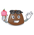 with ice cream chocolate candies character cartoon vector image