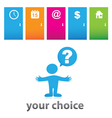 your choice vector image