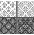 Black and white seamless pattern vector image