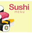 sushi menu sushi background image vector image