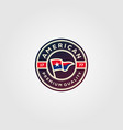 american flag premium badges logo design vector image vector image