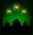 arabic lanterns vector image vector image