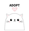 bacat head face silhouette adopt me pink heart vector image vector image