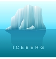 background of icebergs and sea vector image vector image