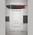black friday tech sale banner template vector image vector image