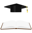 Book and graduation hat
