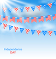 bunting flags pennants vector image
