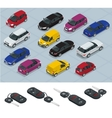 Car and Car keys icons Car keys Flat 3d vector image vector image