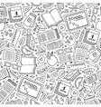 Cartoon cute hand drawn School seamless pattern vector image