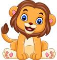 cartoon funny baby lion vector image vector image