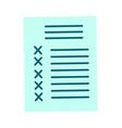 checklist paper document agreement cartoon vector image