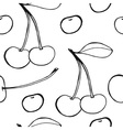 Cherries - seamless pattern vector image