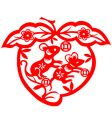 Chinese new year rat vector image vector image