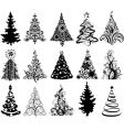 Christmas trees vector | Price: 1 Credit (USD $1)