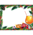 cocktail and christmas ornaments vector image vector image