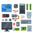computer accessories pc equipment vector image