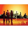 Corporate urban background vector image