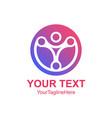 creative abstract circle tech human logo design vector image vector image