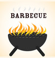 delicious barbecue grill design vector image