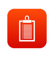 document plan icon digital red vector image vector image
