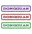 dongguan watermark stamp vector image vector image