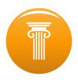 double columned column icon orange vector image vector image