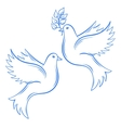 Doves Hand drawn Dove of Peace vector image vector image