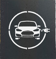 Electric Eco Car Charging Station Icon vector image vector image