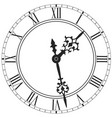 elegant clock face with roman numerals isolated vector image vector image