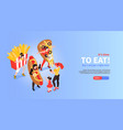 fast food promotion banner vector image