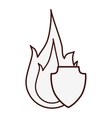 fire flame icon image vector image